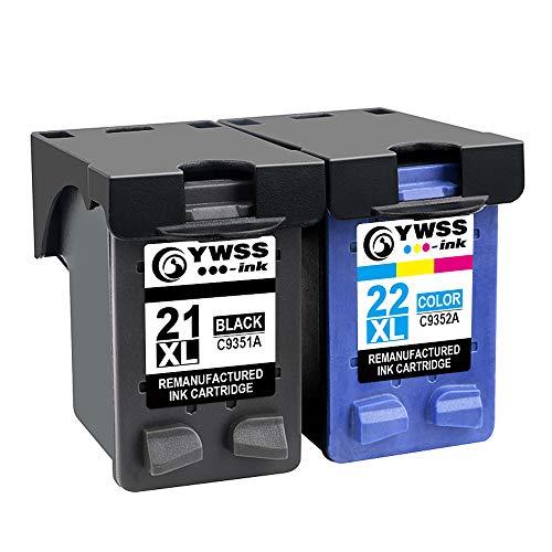 YWSS Remanufacturado Cartucho de Tinta para HP 21XL HP 22XL HP 21 22 Alto...