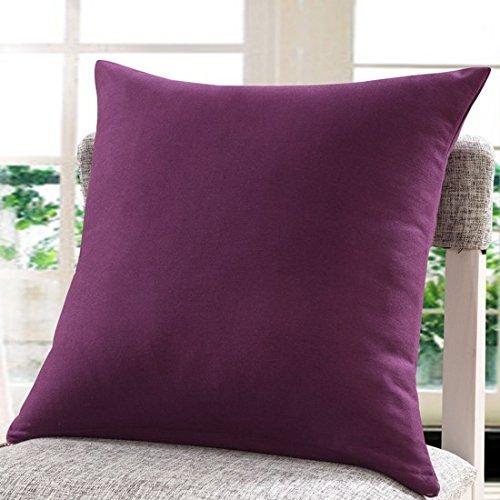Teebxtile Muster Dekoration geometrisch Kissen Polster Sofa werfen Kissenbezüge die einfache Baumwolle, 50x50cm (Kissen + Kapuze, dunkel violett