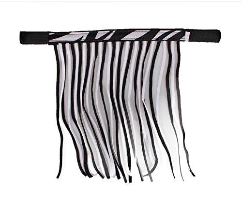 QHP Fliegenfransen mit Klettverschluss Fliegenschutz Kollektion Sommer (Warmblut, Zebra)