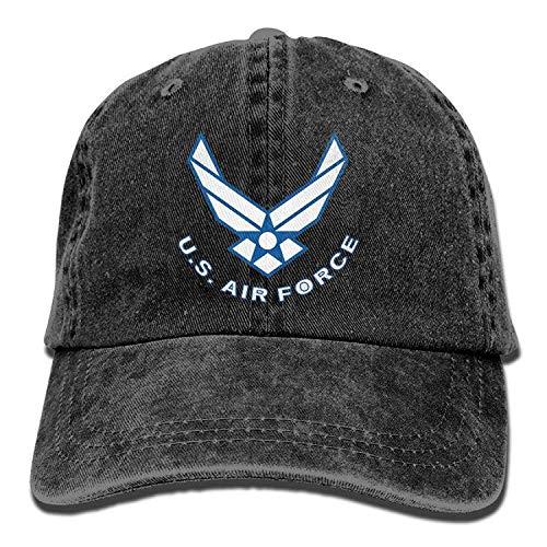 cf550fd1e90 Yuerb Funny Hat Baseball cap Air Force Logo USAF Unisex Adult Adjustable  Gym Dad Caps