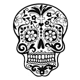 Fashionable Skull Head Pattern PVC Removable Wall Stickers Home Decoration Art Wallpaper Decals for Home Living Room