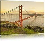 Golden Gate Bridge San Francisco USA 100x70cm Bild auf Leinwand, XXL riesige Bilder fertig gerahmt mit Keilrahmen. Kunstdruck auf Wandbild mit Rahmen. Günstiger als Gemälde oder Ölbild, kein Poster oder Plakat