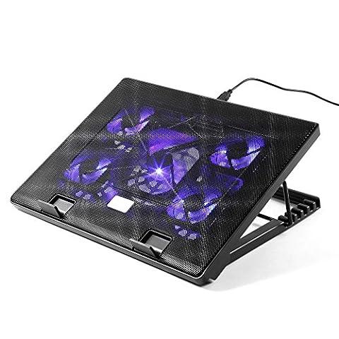 LESHP Ventilateur Portable USB Tapis de Refroidissement Pat Refroidisseur Pour