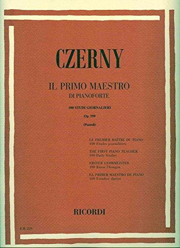 CZERNY - Op. 599 Primer Maestro para Piano (Pozzoli)