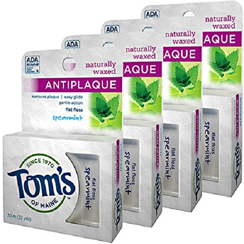 toms-of-maine-naturally-waxed-anti-plaque-flat-floss-spearmint-32-yards-by-toms-of-maine