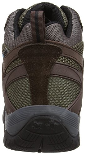 Hi-Tec Alpha Trail Mid Wp Herren Wanderschuhe Braun (Chocolate/Taupe/Burnt Orange)