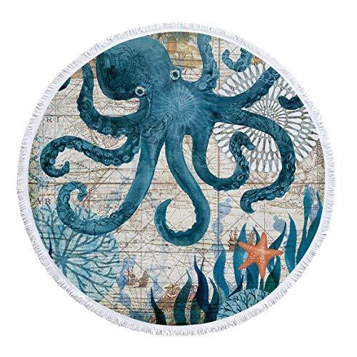 SUYUN Bedruckte runde Strandtuch-Yogamatte mit Quasten -03 150 * 150cm