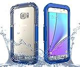 fitmore Samsung Galaxy S7 Edge Étui étanche Housse Coque Outdoor Sport Case Étui Cellulaire Pleine Sealed IP68 Anti-Choc Neige Imperméable Preuve Anti-Poussière Waterproof sous-Marine Cover