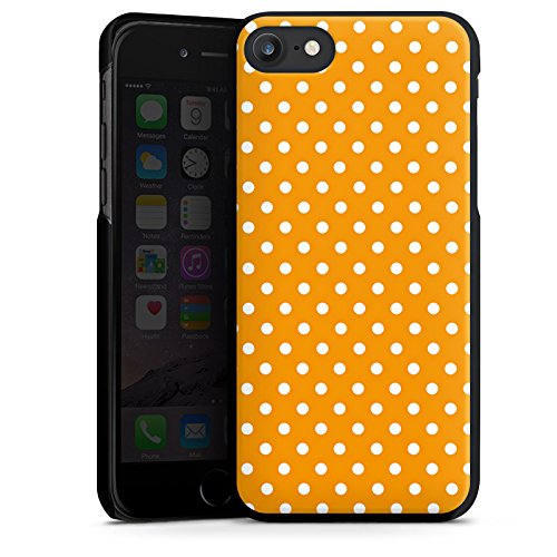 Apple iPhone X Silikon Hülle Case Schutzhülle Muster Polka Punkte Orange Hard Case schwarz