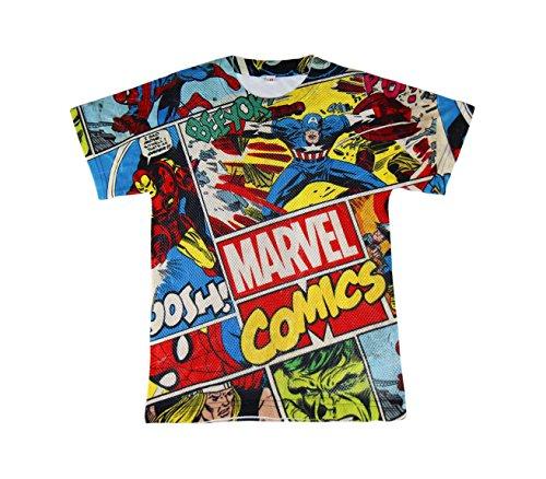 22-1985 Camiseta casual para niños MARVEL COMICS de 6 a 12 años - 12 años