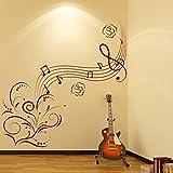 Note de musique Embellissement Wall Sticker Sticker Art Musique Disponible en 5 tailles et 25 couleurs