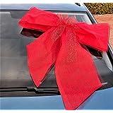 Große Autoschleife rot