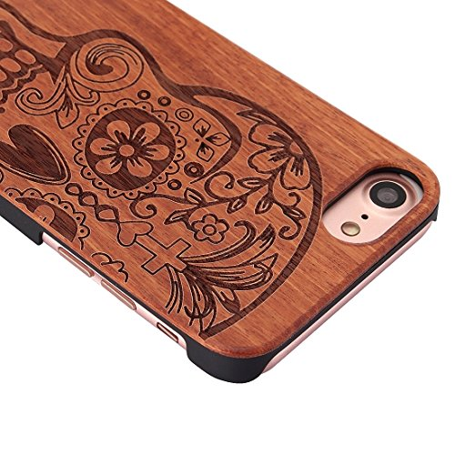 GHC Cases & Covers, Für iPhone 7 Schädel Muster Carving Palisander Holzschutz Schutzhülle Fall ( SKU : Ip7g1270b ) Ip7g1270a