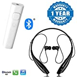 Drumstone Car Bluetooth Receiver 3.5Mm Jack Audio Adapter and Hbs-730 Bluetooth Stereo Headset with Mic