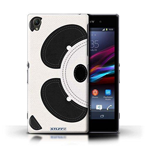 Kobalt® Imprimé Etui / Coque pour Sony Xperia Z1 / Poulet conception / Série Cousu des Animaux Effet Panda