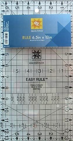 EZ Quilting 6.5 x 13-inch Rule Acrylic