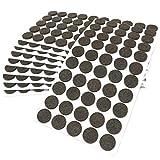 Adsamm® | 500 x Filzgleiter | Ø 20 mm | Braun | rund | 3.5 mm starke selbstklebende Filz-Möbelgleiter in Top-Qualität von Adsamm®