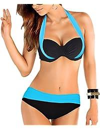 Uskincare Bikini et Maillot de Bain Deux Pièce Taille Bas /Haute de supérieure Qualité Agrandissant Pour Femme