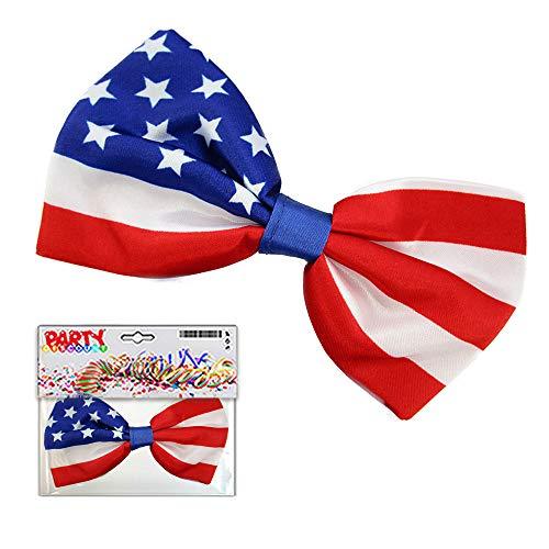 PARTY DISCOUNT ® Fliege USA, blau, weiß, rot, in ()