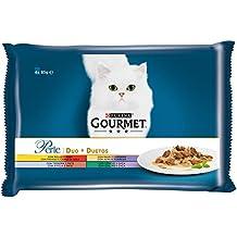 Purina Gourmet Perle Finas Láminas DUO comida para gato Carnes Delicadas 12 x [4 x