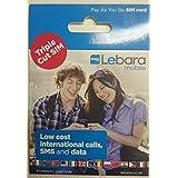 Lebara UK (Import) Dreibettzimmer Sim Card - Nano, Mikro-und-Standard. Kein Gesprächsguthaben enthalten