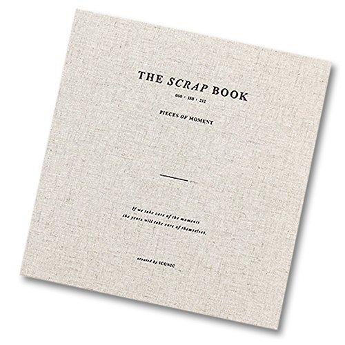 Ikonische Stücke von Moment Scrapbook-einfach elegant Scrapbook-Spiralbindung, 80Seiten von Papier, Tasche, Aufkleber hellbeige