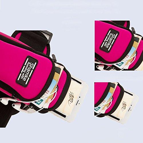 Outdoor Sports Running Fitness pacchetto del braccio del braccio del telefono mobile per il telefono di 5.0 pollici ( Colore : Rose red ) Rose red