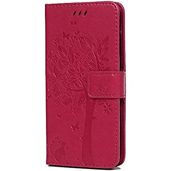 Shockproof 3D Premium Soft PU Leather Wallet Cover with Magnetic Stand Card Holder ID Slot Folio TPU Bumper Protective Case for Huawei P20 Lite Rose Huawei P20 Lite Case Flip