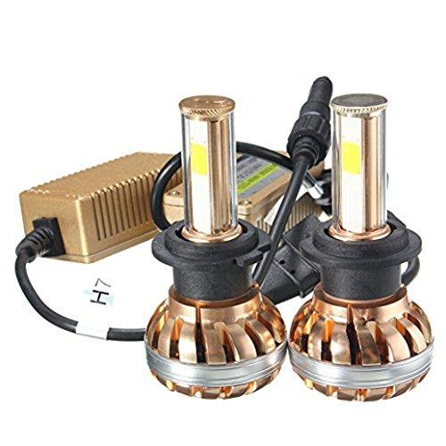 C' est Bianco Vision LED fari H7Kit Fari a LED 120W 6000K Bianco Lampadina Auto - Bright Blue Headlights
