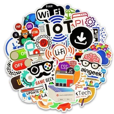 Wasserdichte Cartoon Aufkleber für Kinder Gepäck Koffer Laptop Telefon Skateboard DIY Graffiti Lustige Geek Aufkleber 50 stücke (Erwachsenen-schlafzimmer-wand-abziehbilder)