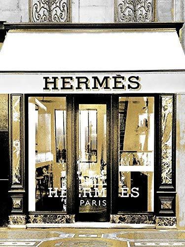 Rahmen-Kunst Toile sur Cadre - Madeline Blake: Designer Entrée V Toile Mode-Boutique Chargement Fashion Moderne Hermes - 35x45