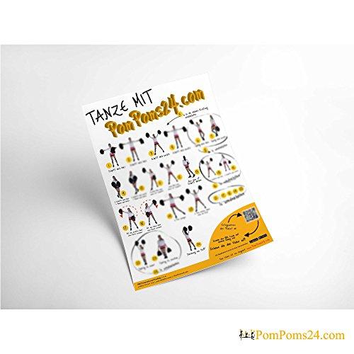Preisvergleich Produktbild Tanzanleitung Plakat / Die Basis-Schritte mit einem Spickzettel / POMPOM TANZ - lerne mit Anleitung / In Kurzer Zeit 14 Tanzschritte kennen lernen / Lernen Sie schnell diese einfache Pompom Choreografie