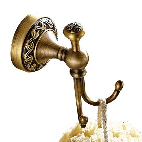 Casewind porta asciugamano, color bronzo, costruito in ottone di qualità, in stile antico con la fantasia delle onde sulla base. porta strofinacci ideale per bagno e cucina double crochet