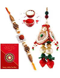 Traditional Villa Handmade Bhabhi Rakhi Set With Gift Combo For Men/Boys M_Ht2Bbs263