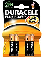 Duracell Pile Alcaline Plus Power AAA 4 Piles
