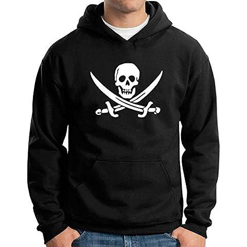 T-Shirtshock - Felpa Hoodie TR0081 Jolly Roger