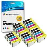 25 Druckerpatronen für Epson Stylus Photo R240, R245, RX400, RX420, RX425, RX430, RX450, RX520 | kompatibel zu Epson T0551, T0552, T0553, T0554 (T0555)