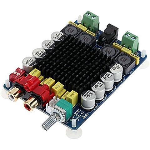 WINGONEER Tablero del amplificador TDA7498 2x100W Dual Channel Clase D de audio, módulo Amp DC 24V Digital Stereo Power para 8Ω subwoofer de la computadora del altavoz de la motocicleta