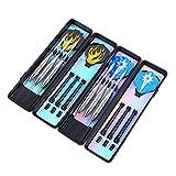 Rekkles 6 PCS Punti Professionale in Acciaio Inox Punta Freccette Sicurezza Dart Diritto Sostituzione per Dartboard elettronico
