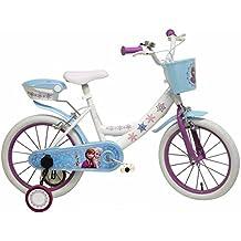 """Disney - Bicicleta infantil, color blanco y azul, tamaño 10"""""""