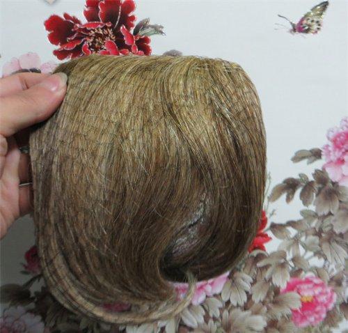 20,3 cm couleur : brun/blond (# 6/613) cheveux humains véritables cheveux Fashion avant Neat Bang franges One cheveux