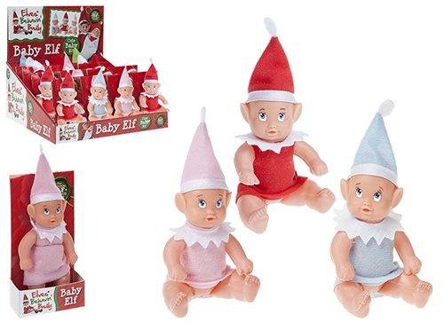 Sima PMS 3AST CL 12,7 cm Jungen/Mädchen, Vinyl, Baby Elf mit Nachthemd 32 TRA