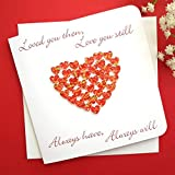 Handmade 3D Anniversary Card - Valentines/I Love You - for Husband, Wife, Boyfriend, Girlfriend