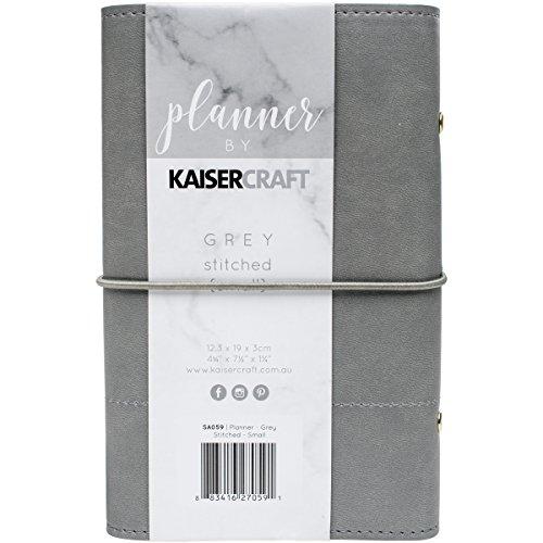 Kaisercraft Planer 12,7x 17,8cm W/genäht Akzente, grau (Genähte Akzente)