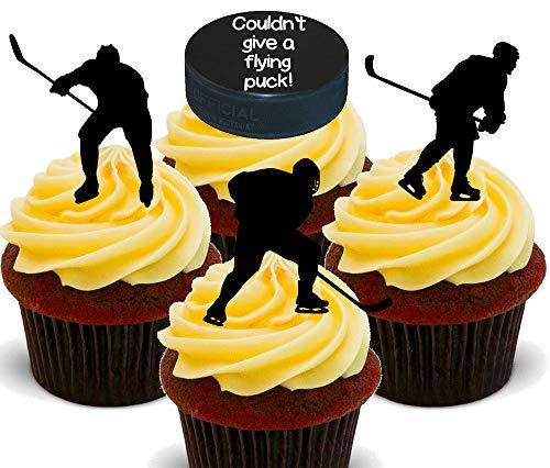 Made4You Eishockey - essbare Cupcake-Topper - aufstellbare Waffelkuchendekoration