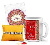 #6: TIED RIBBONS Ceramic 325ml Coffee Mug for Rakhi Gift (Multicolour)