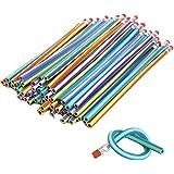 Leisial 30pcs Lápiz Blando Mágicos Flexibles Creativa para Estudiante Lápiz de Deformación 18CM (Multicolor)
