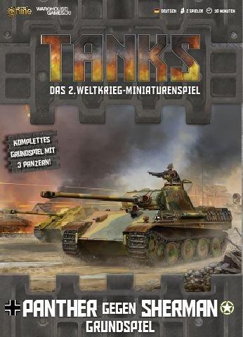Warehouse Games WHG23285 Nein Tanks: Panther gegen Sherman – Grundspiel (deutsch) inkl. 3 Panzer, Spiel