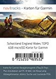 Écosse Carte Angleterre Pays De Galles Garmin Topo 4Go Micro SD Carte de loisirs. Carte Topographique GPS pour vélo randonnée Randonnée Trekking Geocaching & Outdoor. GPS, PC et Mac