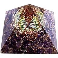 Orgonit in Pyramiden-Form mit mehrfarbiger-Blume des Lebens violett preisvergleich bei billige-tabletten.eu